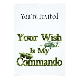 Tank And Heli Your Wish Is My Commando Card