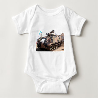 Tank: armored military vehicle baby bodysuit
