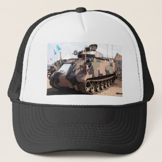 Tank: armored military vehicle trucker hat