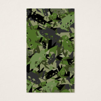 Tank Army Camouflage Bookmark Business Card