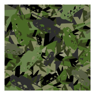 Tank Army Camouflage Framed Print