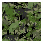 Tank Army Camouflage Poster Print