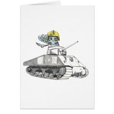 Tank Battle Owl Card