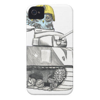 Tank Battle Owl iPhone 4 Cover