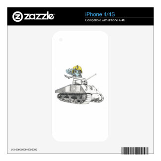 Tank Battle Owl iPhone 4 Decal