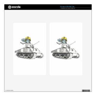 Tank Battle Owl Kindle Fire Decal