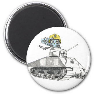 Tank Battle Owl Magnet