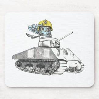 Tank Battle Owl Mouse Pad