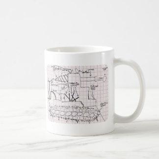 Blueprint design coffee travel mugs zazzle tank blueprint coffee mug malvernweather Choice Image