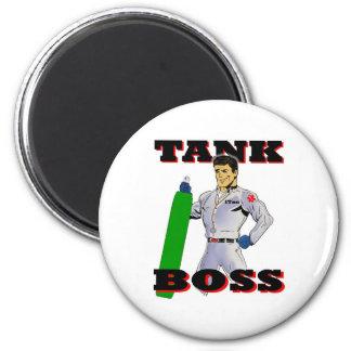 Tank Boss Man Refrigerator Magnets