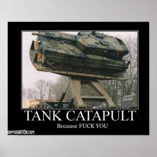 Tank Catapult Poster
