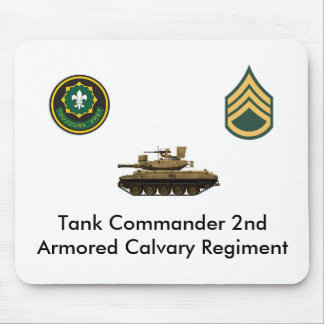 Tank Commander 2nd Armored Calvary Regement Mouse Pad