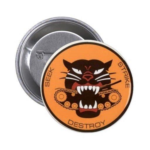 tank destroyer logo pin