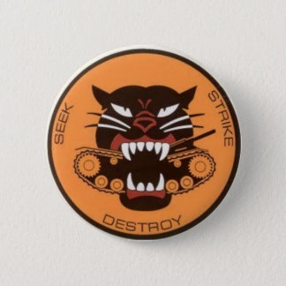 tank destroyer logo pinback button