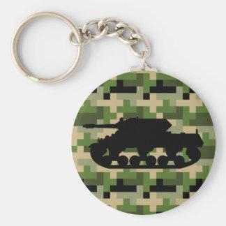 Tank Digital Camouflage Keychain