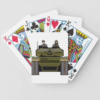 Tank Front Bicycle Playing Cards