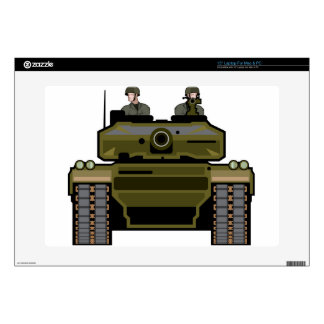 Tank Front Laptop Decal