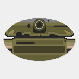 Tank Front Oval Sticker