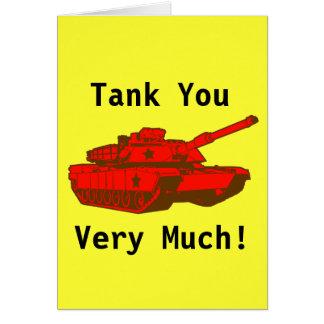 Tank Greeting Card