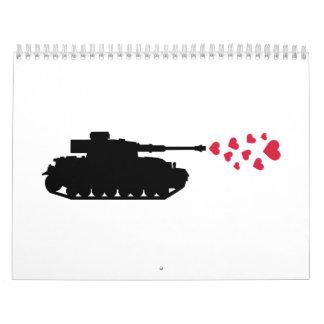 Tank hearts peace calendar