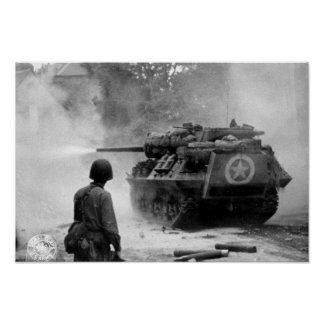 Tank in Action Poster