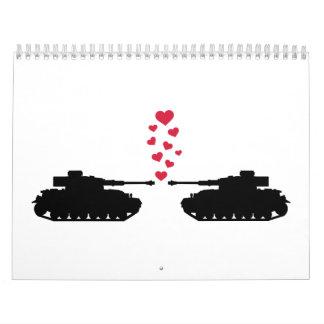 Tank love red hearts calendar