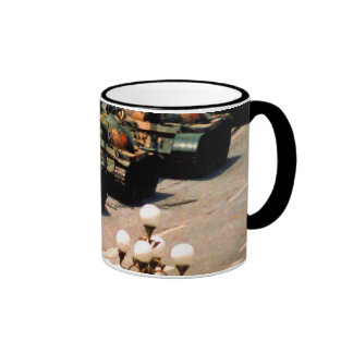 Tank Man Disobey Symbol Mugs