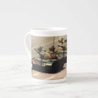 Tank Man Painting Bone China Mug