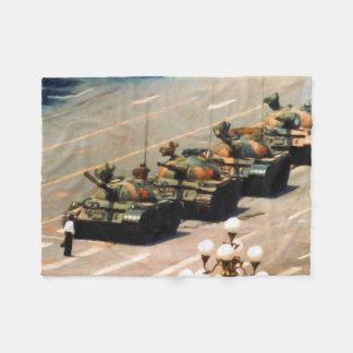 Tank Man Painting Fleece Blanket