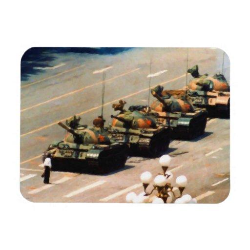 Tank Man Painting Premium Magnet