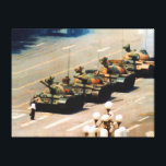 """Tank Man Wrapped Canvas<br><div class=""""desc"""">Tank Man (AKA The Unknown Rebel) was the anonymous hero who was seen during the protests at Beijing&#39;s Tienanmen Square on June 5, 1989 stopping Chinese T59 tanks as they rolled down Chang&#39;an Avenue. No one knows what happened to Tank Man. Many think he was dragged off by Chinese secret...</div>"""