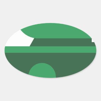 Tank Oval Sticker