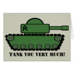 Tank Party Thank You Card