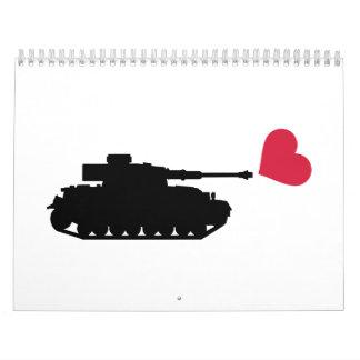 Tank red heart calendar