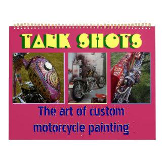 Tank shots - art of custom motorcycle painting calendar