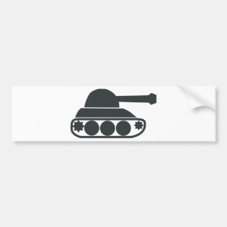 Tank Silhouette Car Bumper Sticker