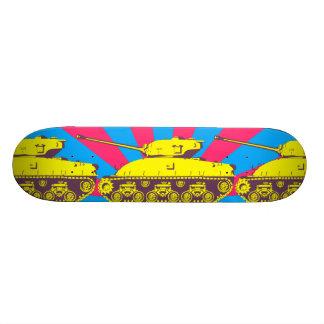 Tank Skateboard Deck (ylw, mag. & blue starburst)