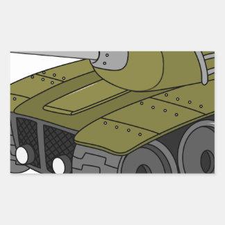 tank rectangular sticker
