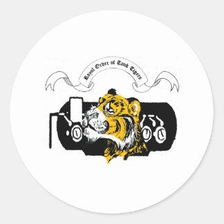 Tank Tiger Classic Round Sticker