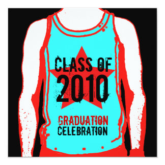 Tank Top Graduation Class Of 2010 Invitation 3