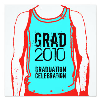 Tank Top Graduation Party 2 Invitation
