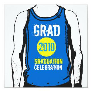 Tank Top Graduation Party 3 Invitation