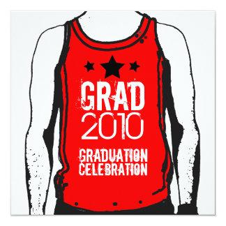 Tank Top Graduation Party 6 Invitation