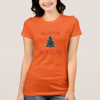 Tank Top Happy Holiday W/tree Womens by creativeconceptss at Zazzle