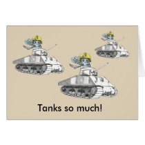 Tank you!  Tank Battle owl is very Thankful. Card