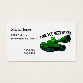 Tank You Very Much Business Card