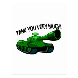 Tank You Very Much Postcard