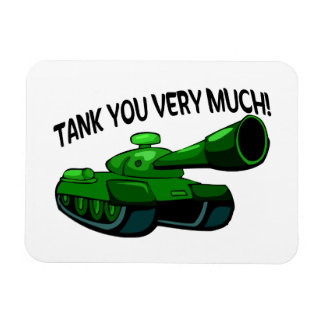 Tank You Very Much Rectangular Photo Magnet