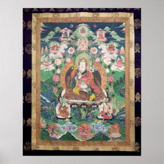 Tanka de Padmasambhava, ANUNCIO c.749 Póster