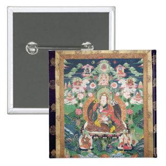 Tanka of Padmasambhava, c.749 AD 2 Inch Square Button